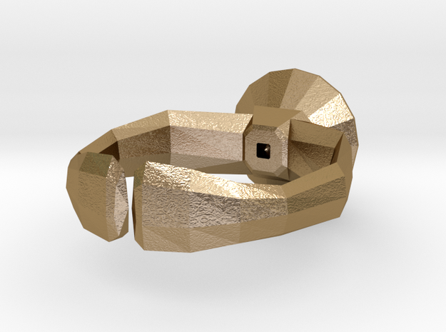"""""""Lowpoly"""" ring 3d printed"""