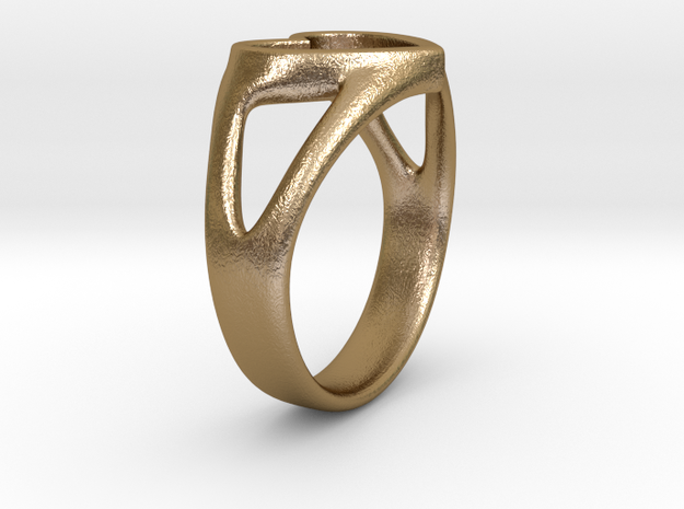 Silvia Heart ring 3d printed