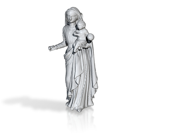 Mary with Jesus 3d printed