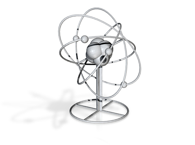 Atom planetary model with base 3d printed