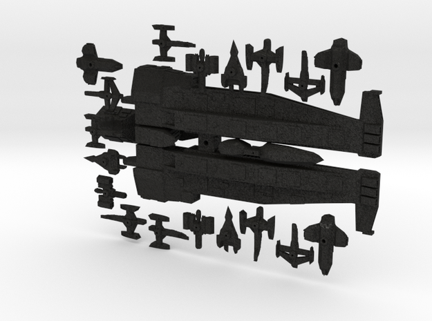Wedge Supercarrier W/ Fighter compliment 3d printed