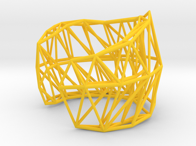 Wide Lena Bracelet - Medium (strong & flexible) 3d printed