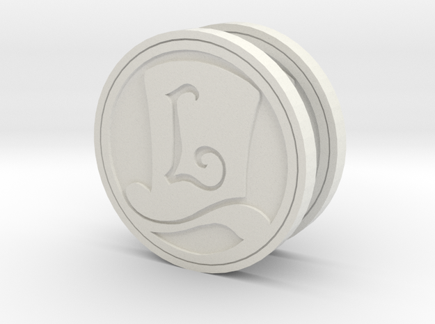 Layton Hat Coin 3d printed