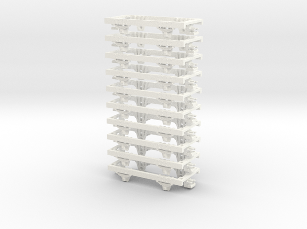 OO9 underframe (medium) 10 pack 3d printed