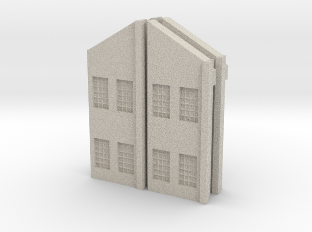 Factory Walls - Angled Roof - Z scale 3d printed