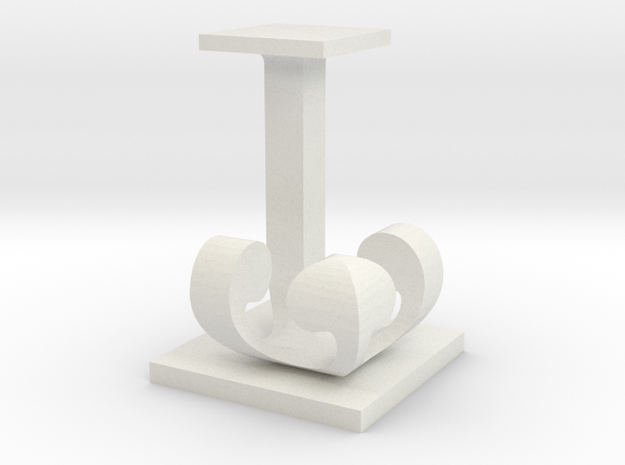 Two way letter / initial J&J 3d printed