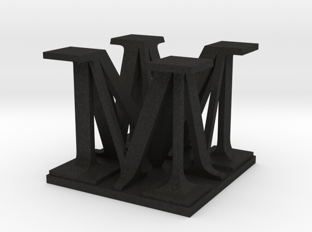 Two way letter / initial size S customizable 3d printed