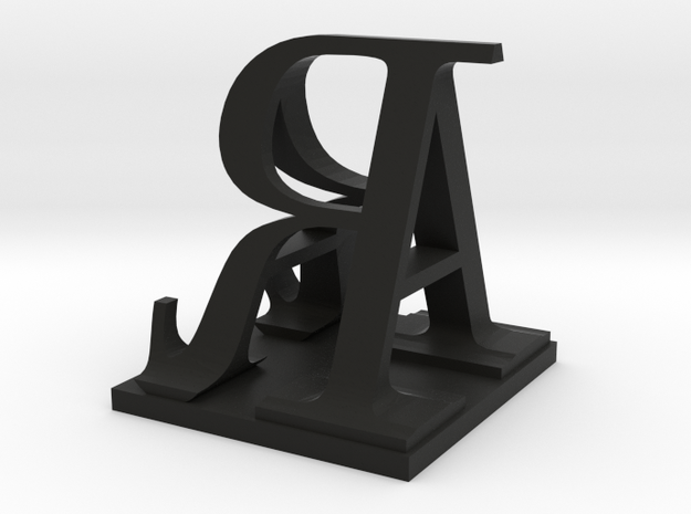 Two way letter / initial A&R 3d printed