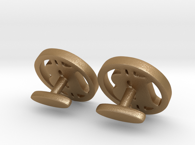 "2 Bitcoin cufflinks ""short"" 3d printed"