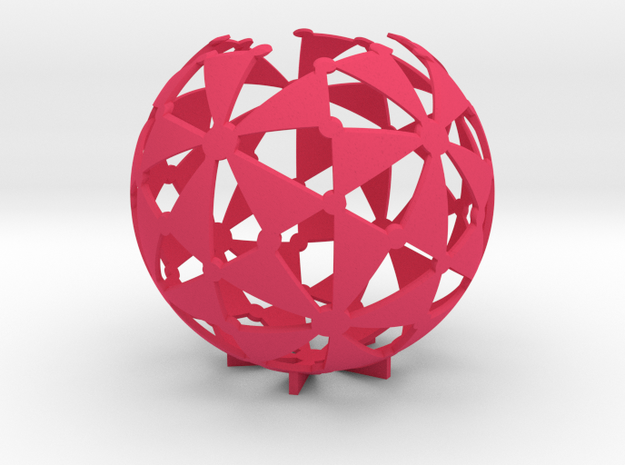 (2,3,5) triangle tiling (stereographic projection) 3d printed