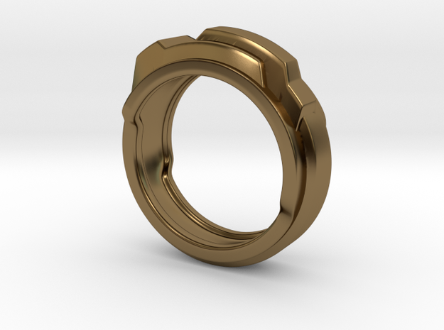 Techno ring 3d printed