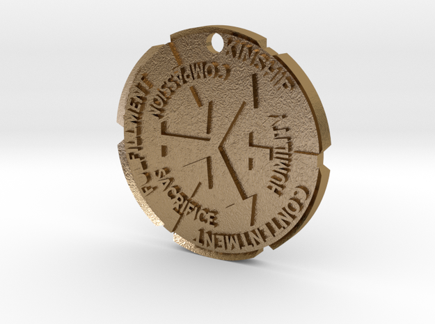 Philosopher Coin -v3 (Pendant) 3d printed