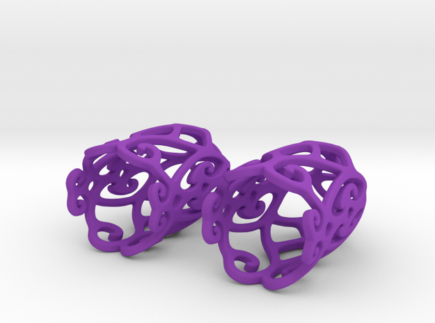 Filigree Bell Shaped Earrings 3d printed