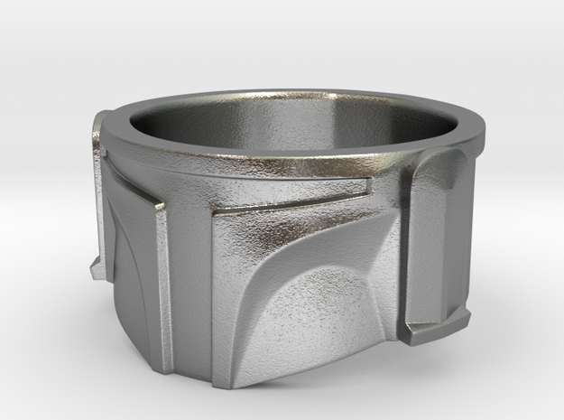Bounty Hunter Helmet Ring 3d printed
