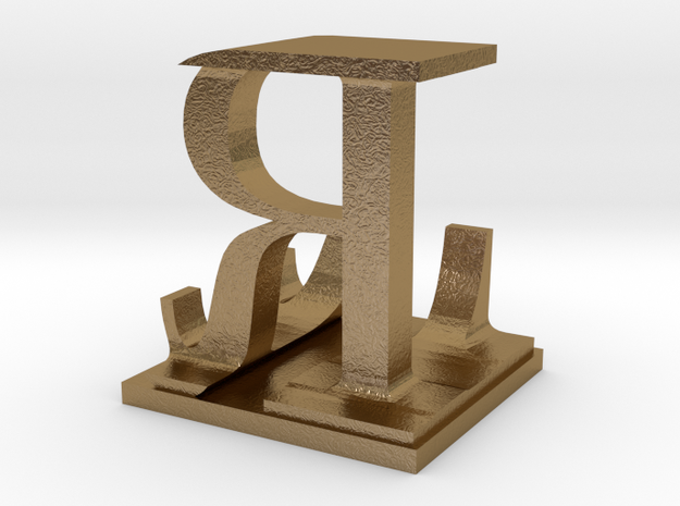 Two way letter / initial L&R 3d printed