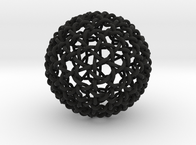 Geodesic Dome Weave Knot 3d printed