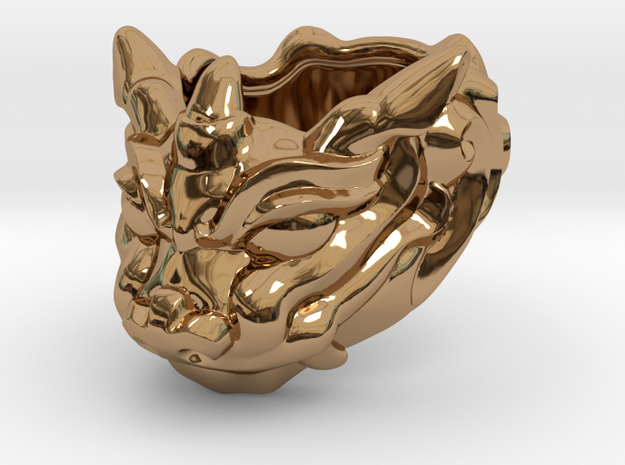 "Fu Dog (Komainu) ""um"" Ring 3d printed"