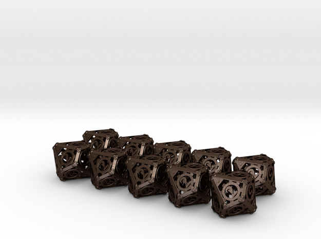 Steampunk 10d10 Set 3d printed