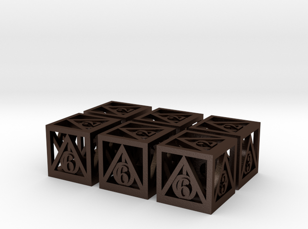 Deathly Hallows 6d6 Set 3d printed