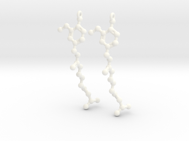 Earrings (Pair)- Molecule- Capsaicin 3d printed