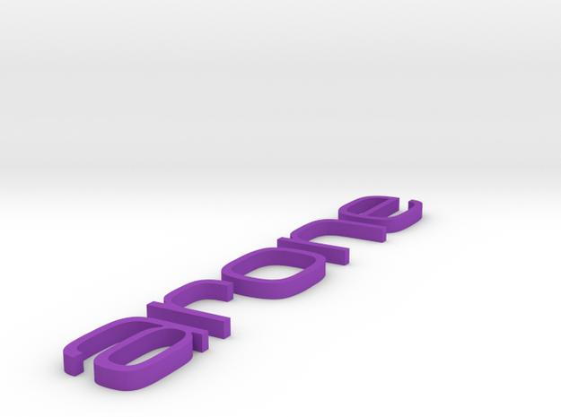 arone letters 3d printed