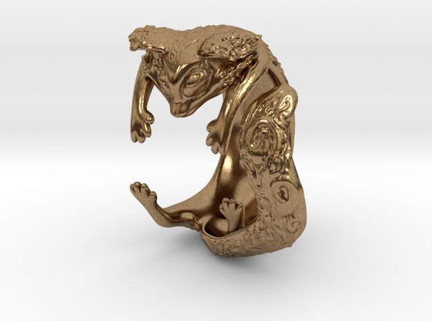 Kitty Ring 3d printed