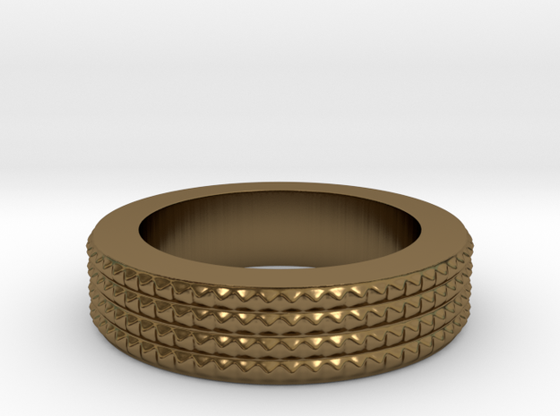 Men's Size 10 US Spiky Ring 3d printed