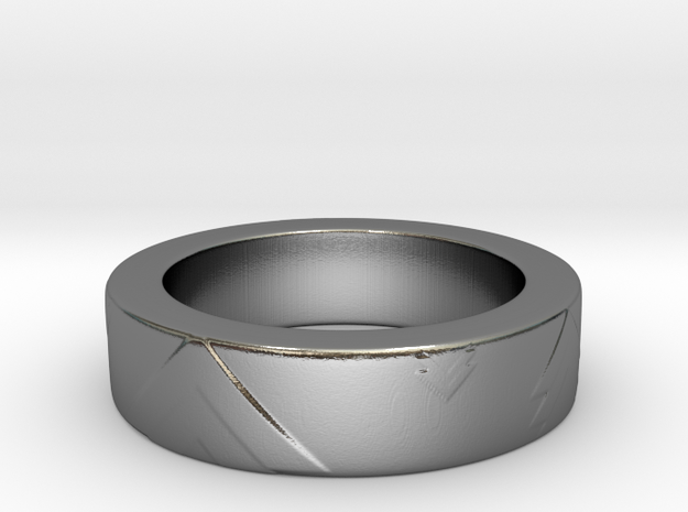 Men's Size 10 US Arrow Ring 3d printed