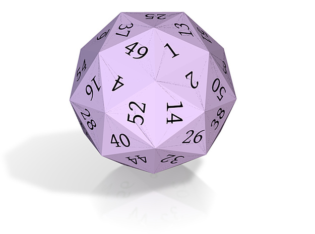 Light Purple d60 3d printed