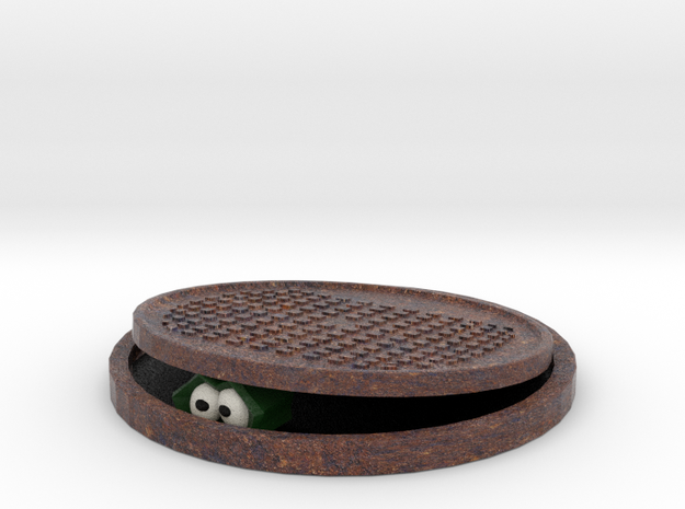 Crocodile in the Sewer 3d printed