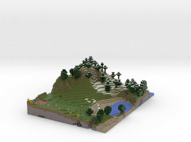 Minecraftlandscape (summer) 3d printed