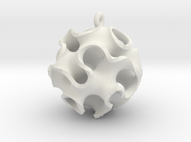 Gyroid Ornament 3d printed