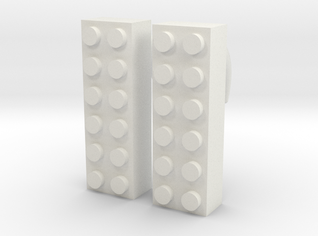 2x6 Brick Earring 00g 3d printed