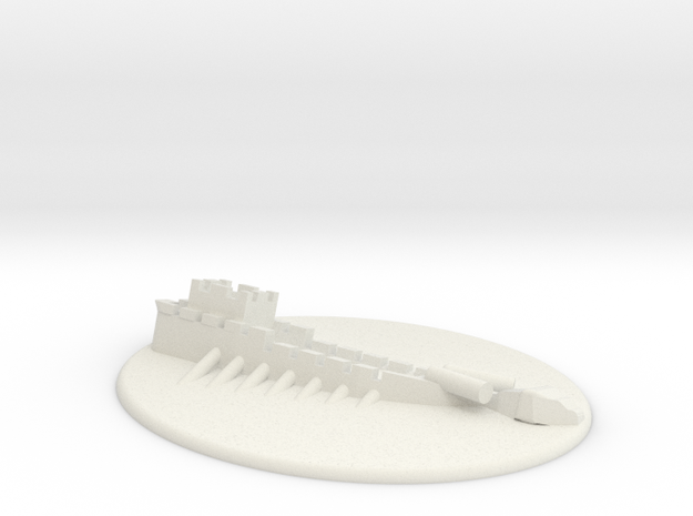 Sunk Galley 3d printed