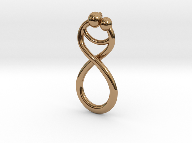 Infinite Embrace Pendant 3d printed