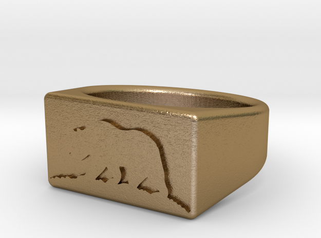 Ring of the bear flag republic 3d printed