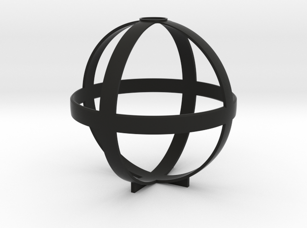Octahedron (stereographic projection) 3d printed