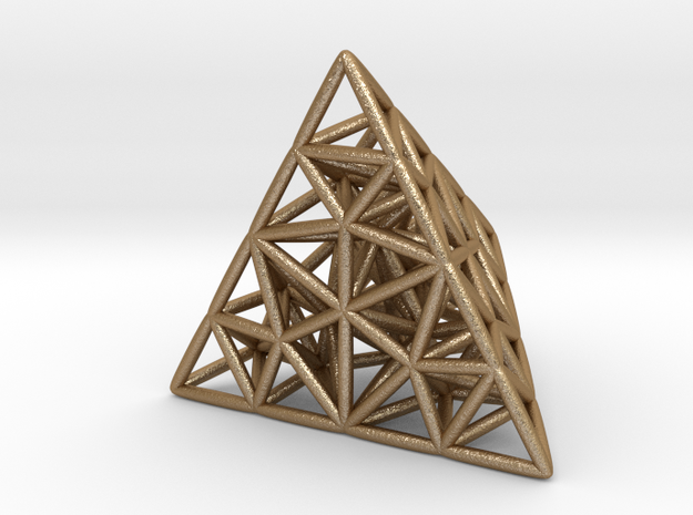 delaunay triangulation pendant 3d printed
