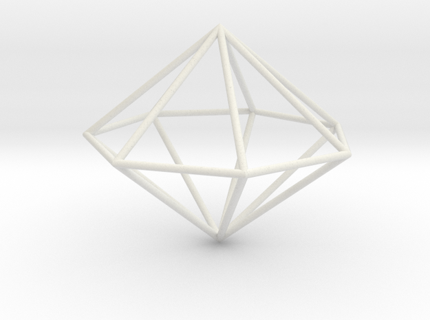 heptagonal dipyramid 70mm 3d printed