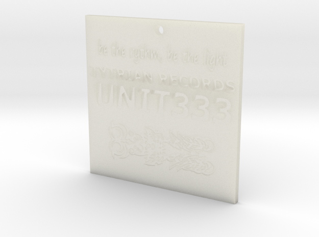 """be the rythm, be the light"" Unit 333 necklace 3d printed"