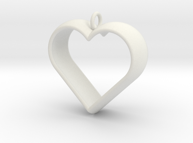 Stylized Heart Pendant 3d printed
