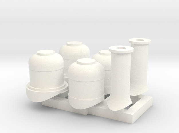 HOn30 Domes + Smoke stacks for 2-8-0 steam loco 3d printed