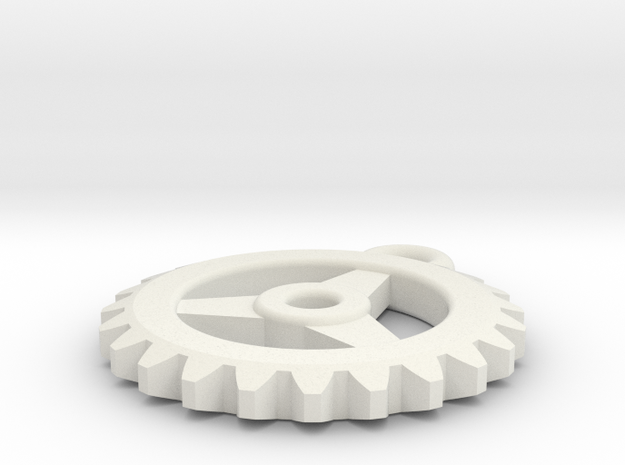 Gear Pendant - Three 3d printed