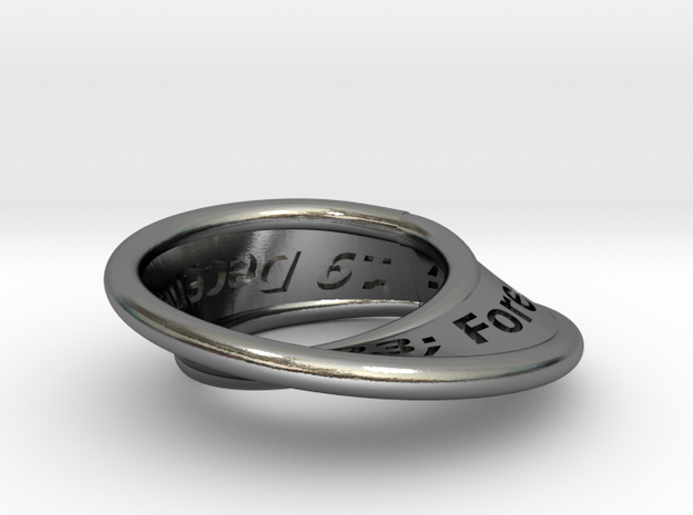 Moebius Ring with Continuous Text 3d printed