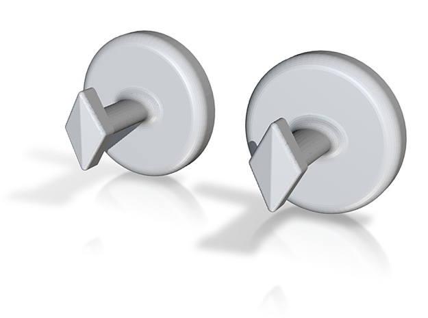 Yinyang Cuff Links - Large 3d printed