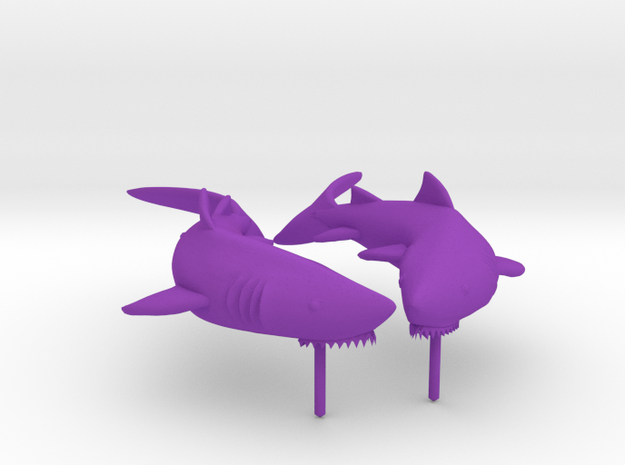 Shark Earrings 3d printed
