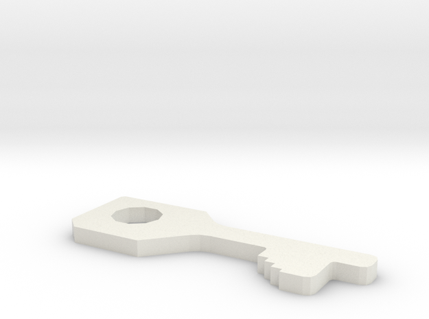 chubb high security handcuff key 3d printed