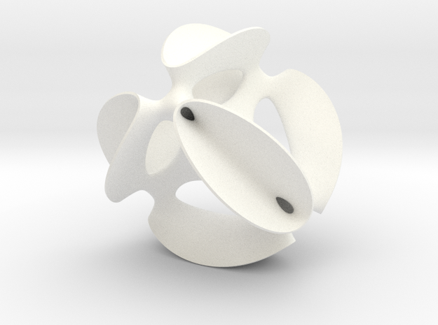 A smoothed Kummer Surface, 6.9cm (2.7in) 3d printed