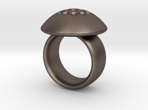 Magnetic Sculpture Ring Size 8 3d printed