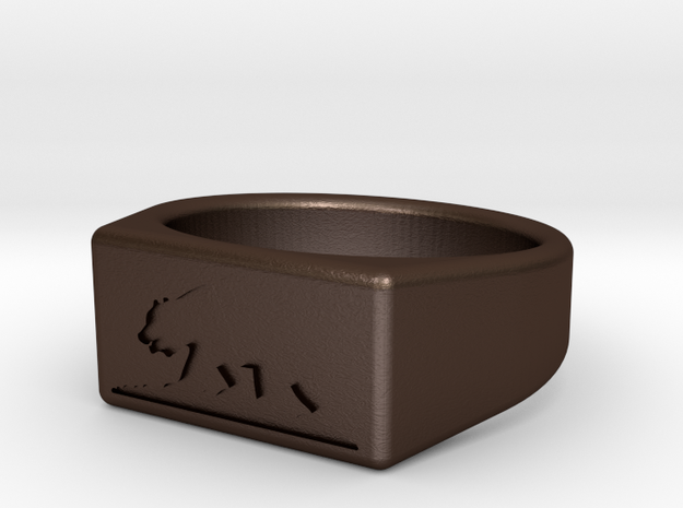 CA ring relief 3d printed